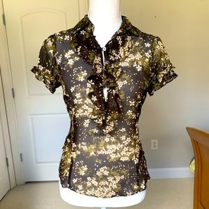Laundry by Shelli Segal Floral Silk Blouse